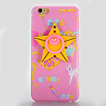 For IMD Mirror DIY Case Back Cover Case Pentagram Badge Soft TPU for Apple iPhone 7 7 Plus 6s 6 Plus