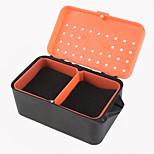 κόκκινο κουτί σκουλήκι κουτί γαιοσκωλήκων πολυ - λειτουργική με κουτί σφουγγαριού γαιοσκωλήκων δροσερό αλιείας κουτί ζωντανό δόλωμα