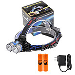 U'King® ZQ-X838B#5-EU 2*CREE XML-T6 4000LM LED 3Modes Headlamp Bicycle Lamp Kit Emergency Charging for your Mobile Devices
