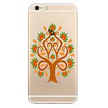 Para Transparente Estampada Capinha Capa Traseira Capinha Árvore Macia TPU para AppleiPhone 7 Plus iPhone 7 iPhone 6s Plus iPhone 6 Plus