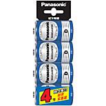Panasonic  R20NU/4SC D Dry Cell Battery 1.5V 4 Pack