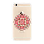 Per Transparente Fantasia/disegno Custodia Custodia posteriore Custodia Fiori Mandala Morbido TPU per AppleiPhone 7 Plus iPhone 7 iPhone