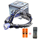 U'King® ZQ-X837BL#3-US CREE XML T6 Zoomable 180 Rotate 3Modes Headlamp Bike Light Kits with Rear Safety LED