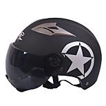 GXT M11 Motorcycle Half Helmet Dual-Lens Harley Sunscreen Helmet Summer Unisex Suitable For 55-61CM with Short Tea Mirror Lens