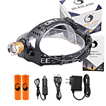 U'King® ZQ-X839GO#7-EU 2* CREE XPE Natural/ UV Purple 4Mode Zoomable Multifunction Headlamp Bicycle Light Kit