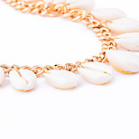Women's Anklet/Bracelet Shell Alloy Fashion Bohemian Hypoallergenic Love Gold Silver Women's Jewelry Party Daily Casual 1pc