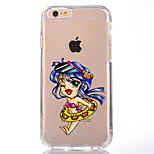 For iPhone 7 Cartoon Sexy Lady TPU Soft Ultra-thin Back Cover Case Cover For Apple iPhone 7 PLUS  6s 6 Plus SE 5s 5 5C