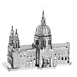 3D Puzzles Metal Puzzles For Gift  Building Blocks Model & Building Toy Famous buildings Architecture Metal 14 Years & Up Silver Toys
