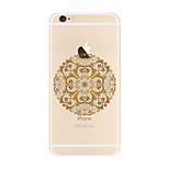 For Transparent Pattern Case Mandala Soft TPU for Apple iPhone 7 Plus  7 iPhone 6 Plus 6 iPhone 5 SE 5C iphone 4