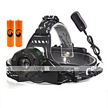U'King® ZQ-X829G#-US Three Head CREE T6 2000LM 3Modes Headlamp Flashlight Kits with Safety Tail LED