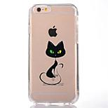 Für Transparent Muster Hülle Rückseitenabdeckung Hülle Katze Weich TPU für AppleiPhone 7 plus iPhone 7 iPhone 6s Plus iPhone 6 Plus