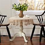 Crochet Round Tablecloth Lace Elegant Doilies Handmade Vintage Crochet Beige 90cm 35inches
