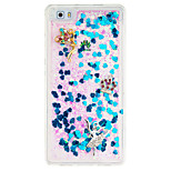 For Huawei P9 Lite  DIY Rhinestone Flowing Liquid Transparent  Case Back Cover Case Angel Soft TPU for P8 Lite