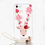 For Rhinestone DIY Case Back Cover Case Flower Deer Soft TPU for Apple iPhone 7 Plus iPhone 7 iPhone 6s Plus iPhone 6 Plus iPhone 6s iPhone 6