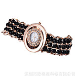 Fashion Watch Simulated Diamond Watch Quartz Alloy Band Casual Black Blue Pink