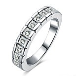 Ring Environmental Copper Crystal Diamond Unique Fashion Rhinestone Silver Plated Euramerican Finger Rings Party Daily Casual Jewelry Zircon For Women