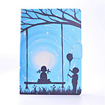 For iPhone iPad Pro 9.7'' iPad 2 / 3 / 4 PU Leather Material Lovers Pattern Painted Flat Protective Cover iPad Air 2 Air