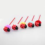 Lovely Three-dimensional Plastic/Hair Ball Cartoon Ladybird Pandent Craft BallPoint Pen