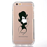 For Transparent Pattern Case Back Cover Case  Hot  Sexy Lady Soft TPU for IPhone 7 7Plus iPhone 6s 6 Plus iPhone 6s 6 iPhone 5s 5 5E 5C