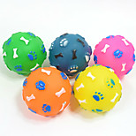 Cat Toy Dog Toy Pet Toys Ball Chew Toy Squeak / Squeaking Bone Rubber Random Color