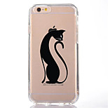 Per Transparente Fantasia/disegno Custodia Custodia posteriore Custodia Gatto Morbido TPU per AppleiPhone 7 Plus iPhone 7 iPhone 6s Plus
