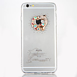 For Rhinestone DIY Case Dolphin Pattern Hard Acrylic Back Cover Case TPU Frame for Apple iPhone 7 Plus iPhone 7 iPhone 6s Plus iPhone 6 Plus iPhone 6s