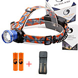 U'King® ZQ-X830BL#3-EU CREE XML-T6 LED 2000LM Zoomable 180 Rotate 3Modes Headlamp Bike Light Kits with Rear Safety LED