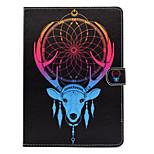 Für mit Halterung Muster Hülle Handyhülle für das ganze Handy Hülle Tier Hart PU - Leder für Apple iPad Air 2 iPad Air