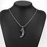 Men's Pendant Necklaces Titanium Steel Animal Shape Skull / Skeleton Basic Fashion Silver Jewelry Daily Casual 1pc