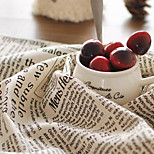 50x70cm Cotton Linen Napkin English Retro Printed Newspaper Pattern Placemats Rectangle For Home Decoration