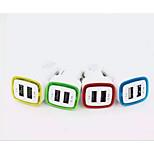 Coche 2 Puertos USB USB del cargador del coche del zócalo USB2.0 5V 2.1A