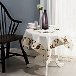 For Sale Square Embroidered Table Cloth 100% Cotton Wedding Party Tablecloth Christmas Decor 85*85cm (34*34 inches)