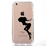For iPhone 7 Sexy Lady TPU Soft Ultra-thin Back Cover Case Cover For Apple iPhone 7 PLUS  6s 6 Plus SE 5s 5 5C 4 4s