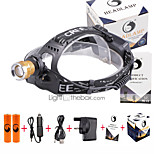U'King® ZQ-X839GO#6-UK 2* CREE XPE Natural/ UV Purple 4Mode Zoomable Multifunction Headlamp Bicycle Light Kit