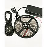 Z®ZDM 16.4 Ft (5M) Waterproof 72W 300PCS 5050 4Red 1 Blue/Group LED Plant Light strip With 12V/6A Power Supply AC100-265V
