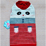 Dog Coat Sweater Dog Clothes Spring/Fall Stripe Cute Red Blue
