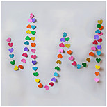 RayLineDo® 1 Piece 4 Metres Multi Color Paper Garland For Wedding Birthday Anniversary Party Christmas Girls Room Decoration Heart Shape 5*5CM