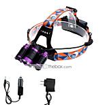 Torce frontali LED Lumens 3 Modo Cree XM-L T6 18650 Messa a fuoco regolabileCampeggio/Escursionismo/Speleologia Uso quotidiano Ciclismo