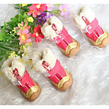 Dog Shoes & Boots Cute Winter Solid Red Blue Black Beige PU Leather
