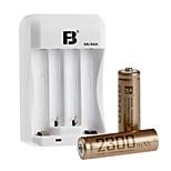 FB FB-15 AA Nickel Metal Hydride Rechargeable Alkaline Battery 1.2V 2300mAh 2 Pack