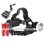 ヘッドランプ LED 2000 ルーメン 3 モード Cree XM-L T6 18650 小型 キャンプ/ハイキング/ケイビング 日常使用 サイクリング 狩猟 旅行 ワーキング 多機能 登山 屋外 アルミ合金 PVC