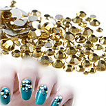 500-600pcs/bag SS3-SS16 Mixed Size Sweet Golden Nail Rhinestone New Nail Art Glitter Sparkling Jewelry Decoration Shiny Rhinestone Nail Bling Bling