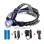 U'King® ZQ-X837BL#2-US CREE XML T6 Zoomable 180 Rotate 3Modes Headlamp Bike Light Kits with Rear Safety LED