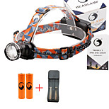 U'King® ZQ-X830B#3-US CREE XML-T6 LED 2000LM Zoomable 180 Rotate 3Modes Headlamp Bike Light Kits with Rear Safety LED