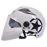 GXT M11 Motorcycle Half Helmet Dual-Lens Harley Sunscreen Helmet Summer Unisex Suitable For 55-61CM with Long Transparent Lens
