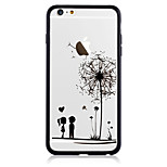 For IPhone 7 Pattern Case Back Cover Case Acrylic Backplane TPU Border Dandelion for IPhone 6s/6/6 Plus/7/7Plus