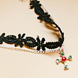 Women's Anklet/Bracelet Lace Friendship Hip-Hop Rock Hypoallergenic Simple Style European Heart Cross Black Women's Jewelry ForParty
