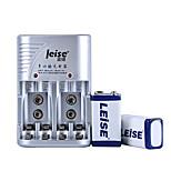 LEISE 802 9V Nickel Metal Battery 280mAh 2 Pack
