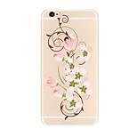 Für Transparent Muster Hülle Rückseitenabdeckung Hülle Blume Weich TPU für AppleiPhone 7 plus iPhone 7 iPhone 6s Plus iPhone 6 Plus
