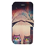 For iPhone 7Plus 7 PU Leather Material Owl Pattern Painted Phone Case 6s Plus 6Plus 6S 6 SE 5s 5